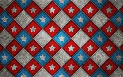 Captain America logo on metallic square pattern wallpaper