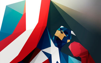 Captain America mosaic wallpaper