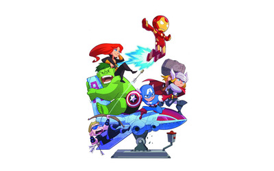 Cartoon Avengers wallpaper