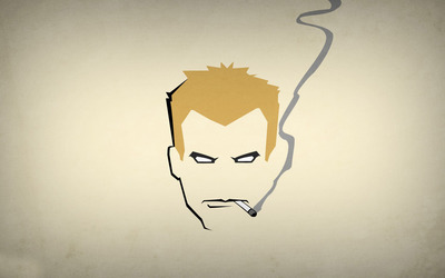 Constantine smoking wallpaper