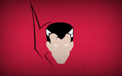 Doctor Strange head on a pink wall wallpaper