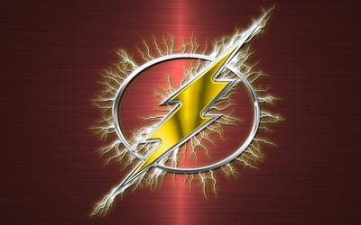 Flash flashy logo wallpaper