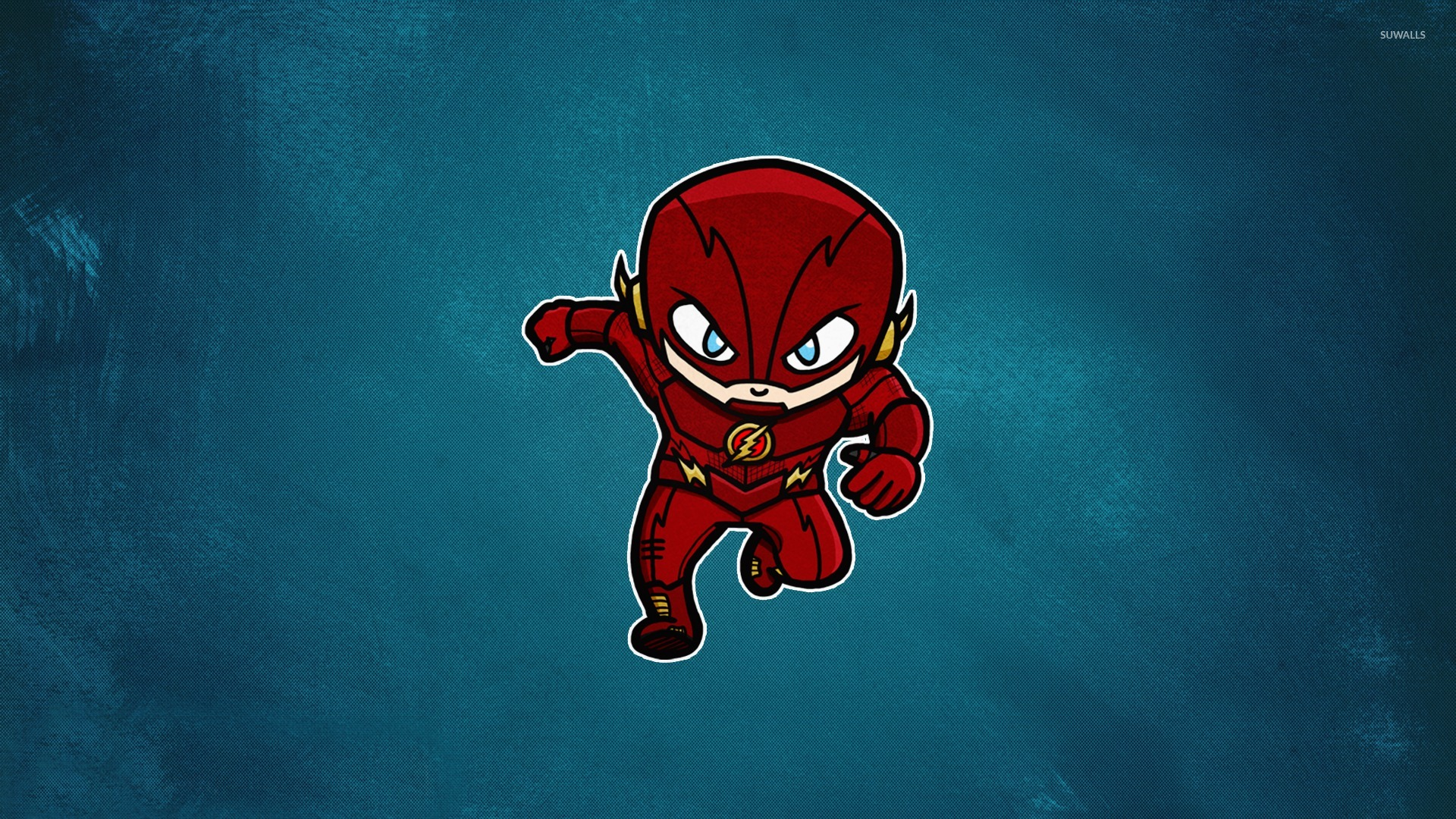 flash on a blue wall wallpaper - comic wallpapers - #49486
