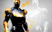 Golden Iron Man wallpaper 1920x1200 jpg