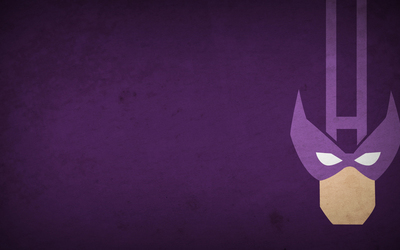Hawkeye on a purple stone wall wallpaper