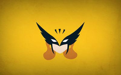 Hawkman on golden wall wallpaper