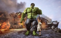 Hulk and little girl with a lollipop wallpaper 1920x1200 jpg