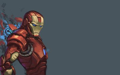 Iron Man artwork wallpaper