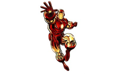 Iron Man fighting wallpaper