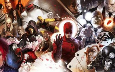 Marvel comic characters wallpaper