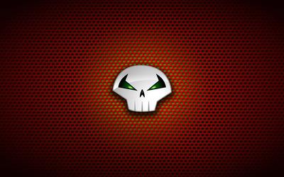 Punisher logo on circle pattern wallpaper