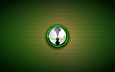 Spawn logo on circle pattern wallpaper