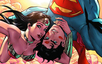 Superman and Wonder Woman Selfie wallpaper 2560x1440 jpg
