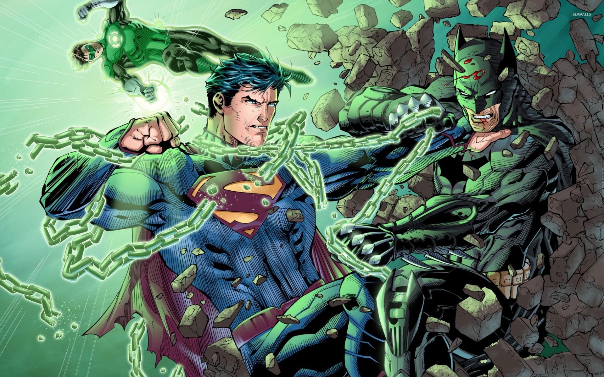 Superman Fighting Batman Wallpaper Comics