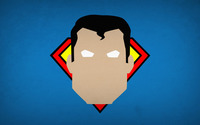 Superman head on a blue wall wallpaper 1920x1080 jpg