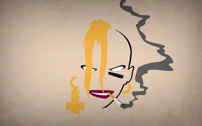 Tank Girl smoking wallpaper