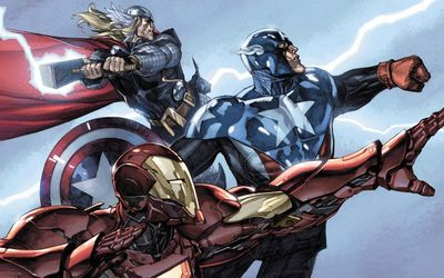 Thor, Captain America and Iron Man wallpaper