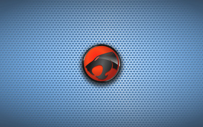 ThunderCats on blue circle pattern wallpaper