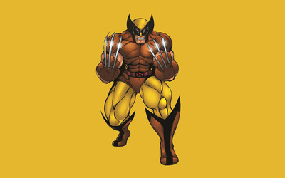 Wolverine with silver claws wallpaper