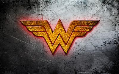 Wonder Woman golden logo wallpaper