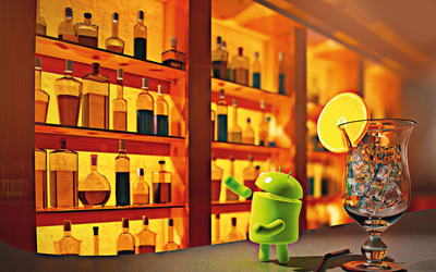 Android at the bar wallpaper