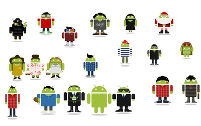 Android figures wallpaper