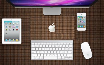 Apple accessories wallpaper