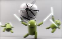 Apple against Android wallpaper 2560x1600 jpg