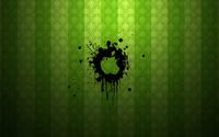 Apple logo in black paint wallpaper 1920x1200 jpg