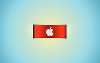Apple logo on the orange ribbon wallpaper 1920x1080 jpg