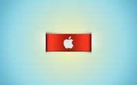 Apple logo on the orange ribbon wallpaper 1920x1080 jpg