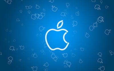 Apple logo outline wallpaper