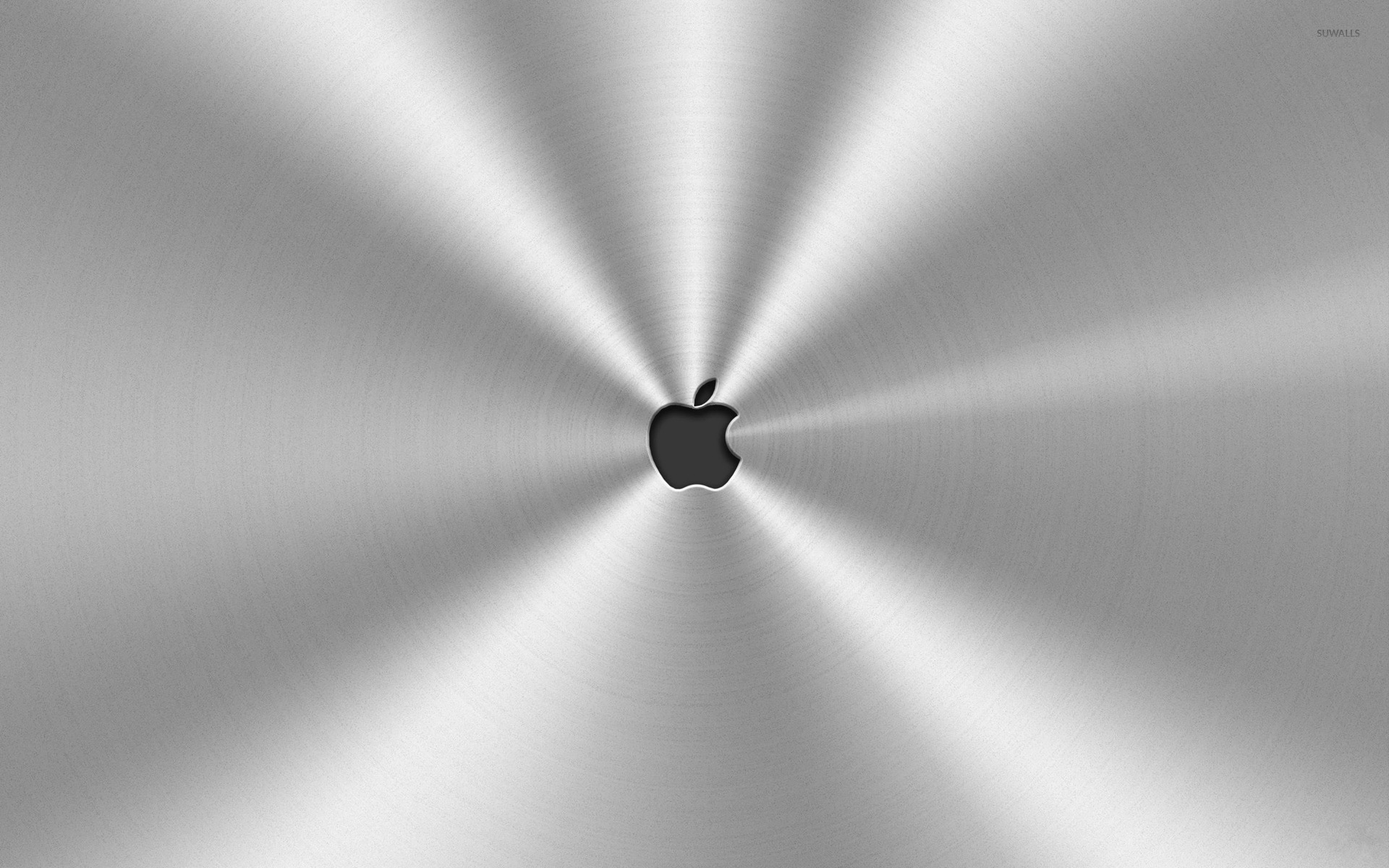 Apple Logo Surrounded By Metal Wallpaper