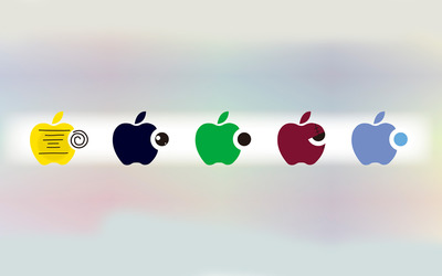 Apple logos [3] wallpaper