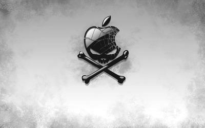 Apple skull Wallpaper