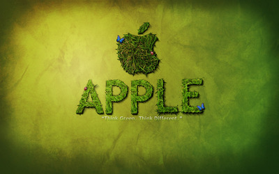 Apple - Think green, think different wallpaper