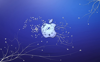 Bird and butterflies in the Apple wallpaper 1920x1200 jpg