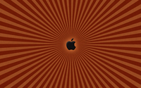 Black Apple on the orange lines wallpaper 1920x1200 jpg