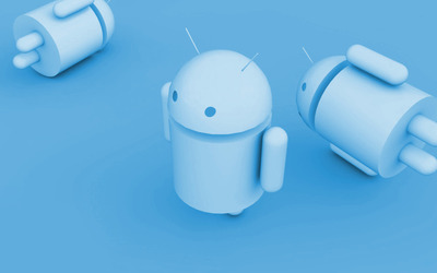 Blue Android wallpaper