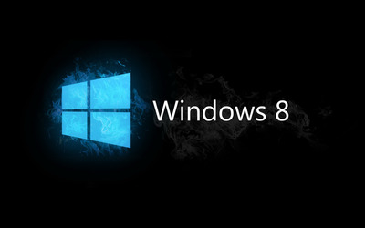 Blue smoky Windows 8 wallpaper