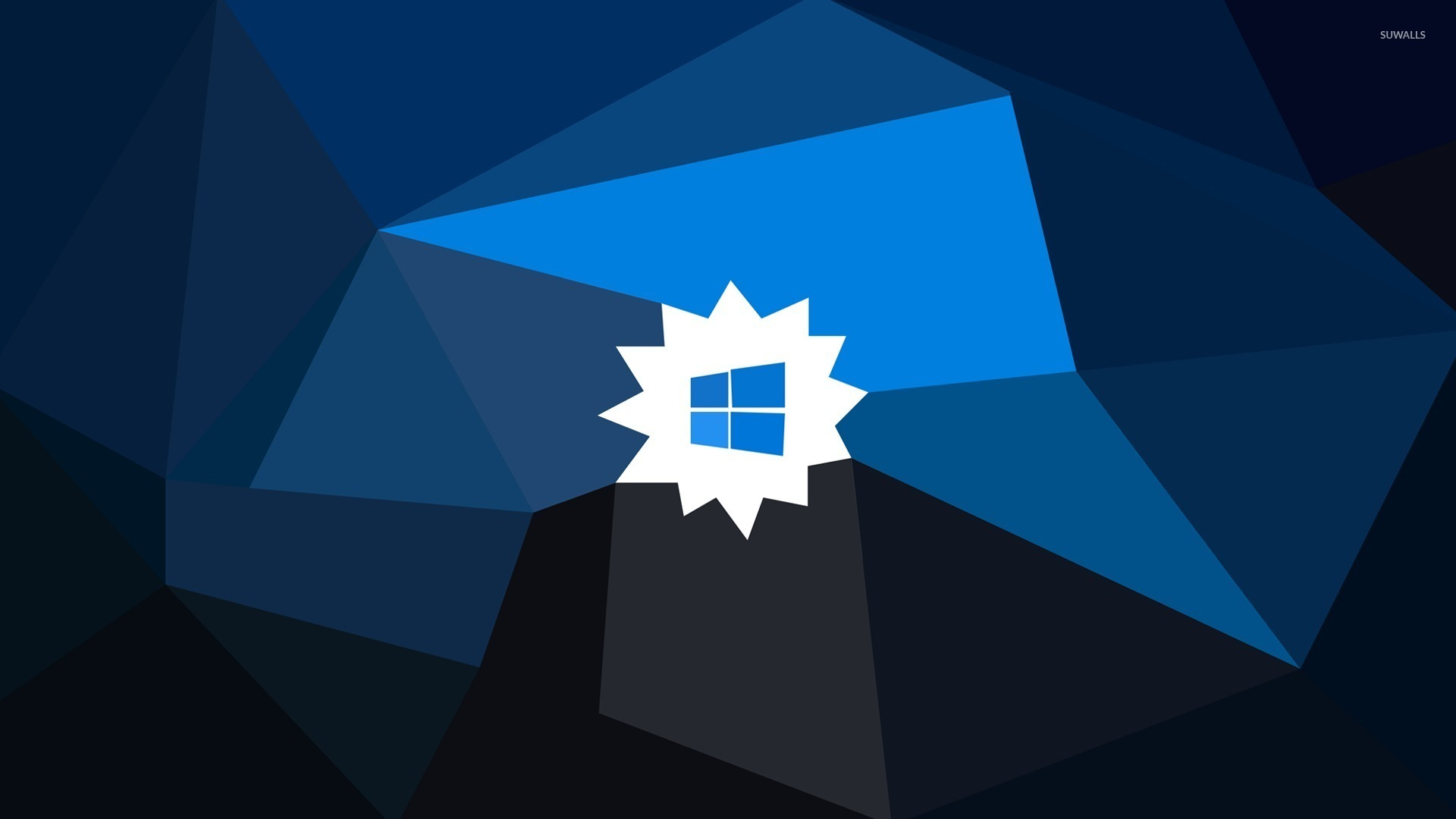 Blue Windows 10 On A White Blossom Wallpaper Computer Wallpapers