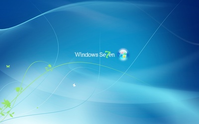Blue Windows 7 logo [2] wallpaper