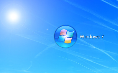 Blue Windows 7 logo circle wallpaper