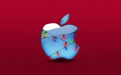 Christmas lights Apple wallpaper