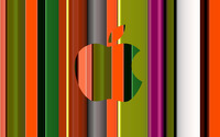 Colorful Apple logo wallpaper 2560x1440 jpg