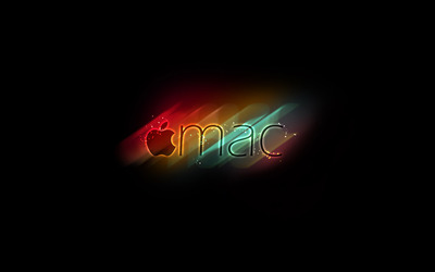 Colorful, blurry Apple wallpaper