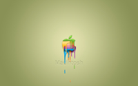 Colorful paint dripping from an Apple wallpaper 2560x1600 jpg