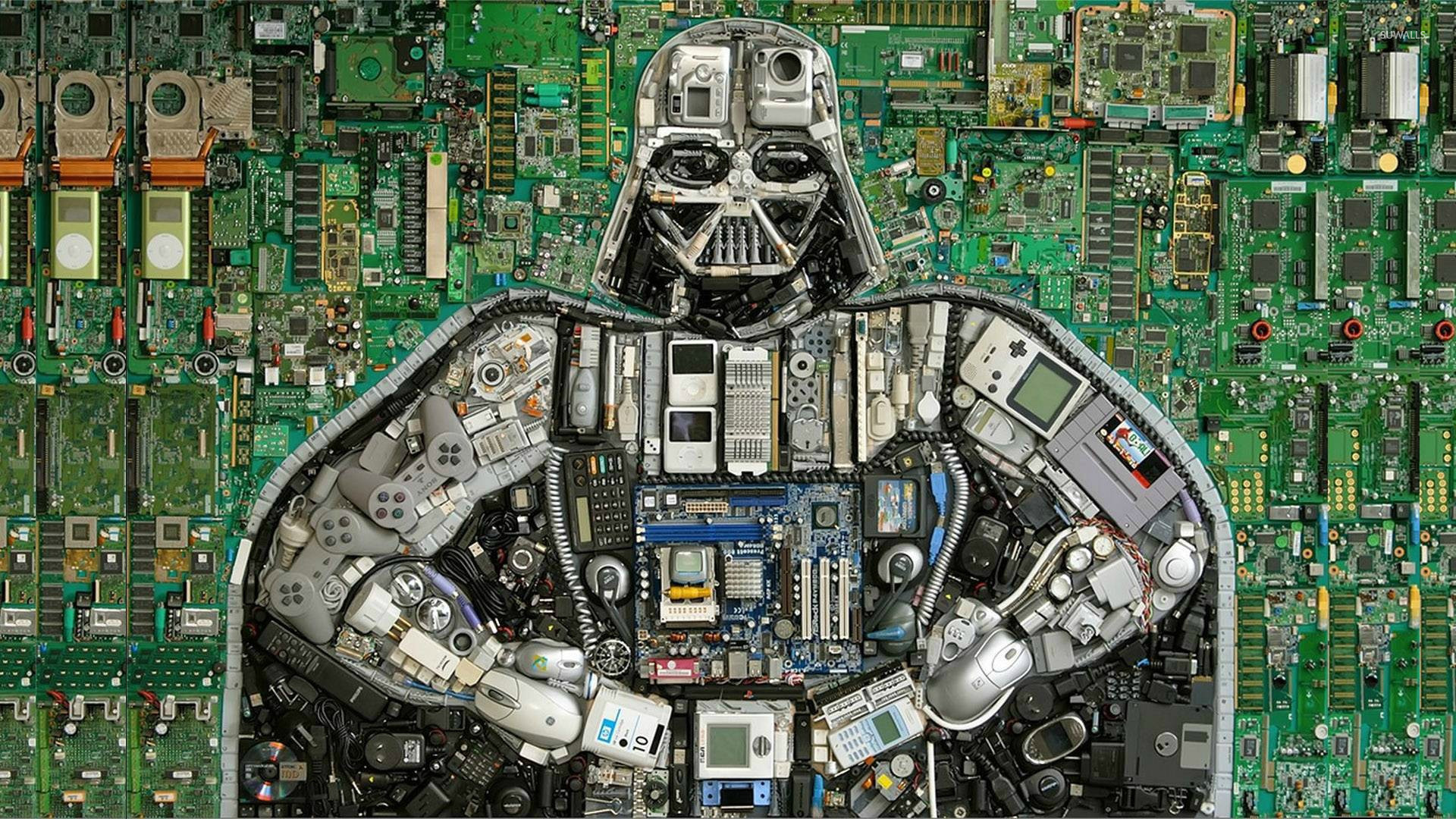 Darth Vader out of puter parts wallpaper puter wallpapers