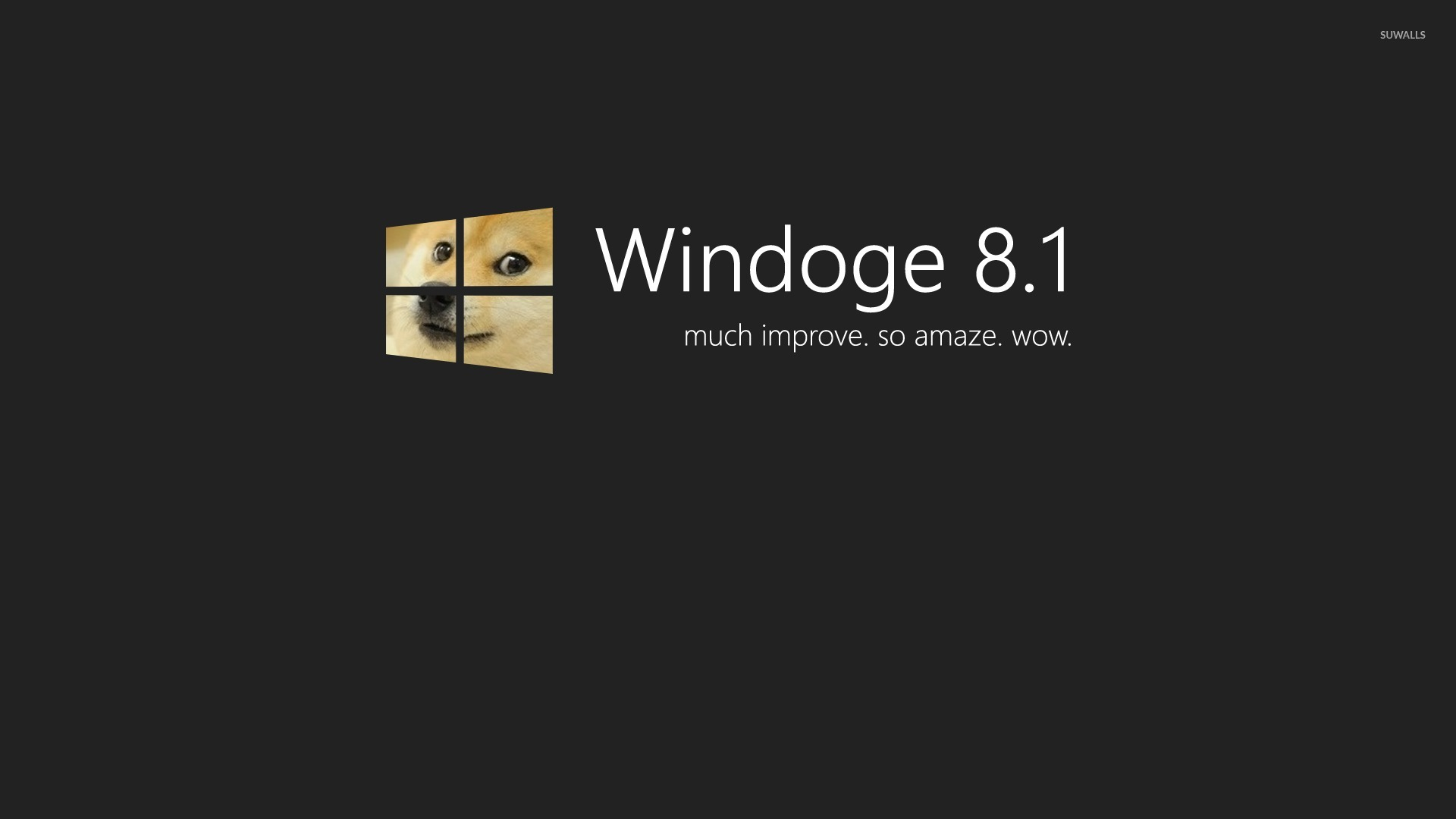Doge Windows 81 Wallpaper Computer Wallpapers 27993