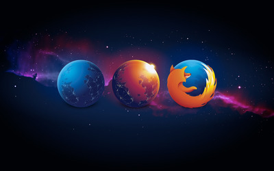 Earth and Mozilla Firefox wallpaper